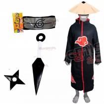 Manto Akatsuki com Kit Ninja A16