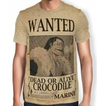 Camisa Full Print Wanted Crocodile - One Piece