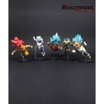 Kit 5 Action Figures Mini Dragon Ball Fukkatsu no F