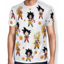 Camisa Full Print Chibi Goku Evolution - Dragon Ball Super