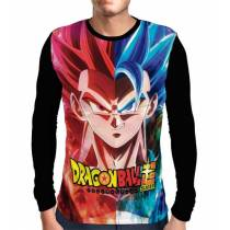 Camisa Manga Longa Gogeta Super Sayajin God - Dragon Ball Super