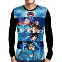 Camisa Manga Longa Goku Eras - Dragon Ball Super
