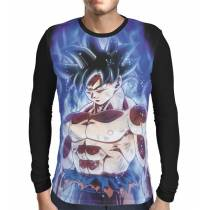 Camisa Manga Longa Goku Ultra Instinto - Dragon Ball Super