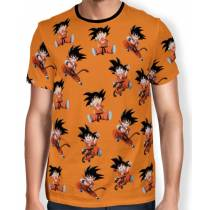 Camisa Full Print Chibi Kid Goku - Dragon Ball Super