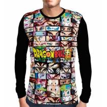 Camisa Manga Longa Characters Eyes - Dragon Ball Super