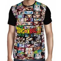 Camisa Full Characters Eyes - Dragon Ball Super