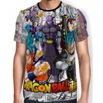 Camisa Full Print - Manga Super Gods Dragon Ball