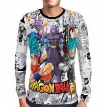 Camisa Manga Longa Mangá Super Gods - Dragon Ball Super