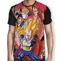 Camisa Full Vegeta Sayajin Forms - Dragon Ball Super