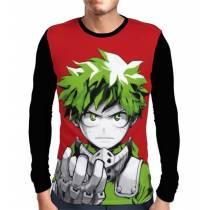 Camisa Manga Longa Draw Deku Midoriya - Boku No Hero Academia