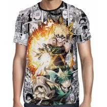 Camisa Full PRINT Mangá Deku e Kacchan - Midoriya e Bakugou - Boku No Hero Academia