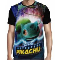 Camisa Full Bulbassauro - Pokemon Detetive Pikachu