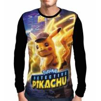 Camisa Manga Longa Pokemon Detetive Pikachu