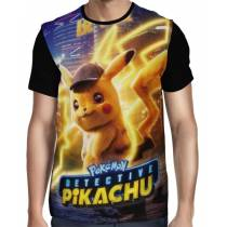 Camisa Full Pokemon Detetive Pikachu
