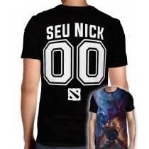 Camisa Full PRINT Dota 2 - Personalizada Modelo Nick Name e Número