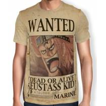 Camisa Full Print Wanted EUSTASS KID - One Piece
