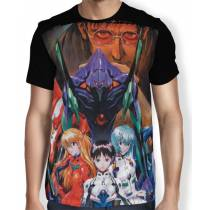 Camisa Full - Pilots Together - Neon Genesis Evangelion
