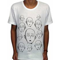 Camisa SB - Faces Saitama - One Punch Man
