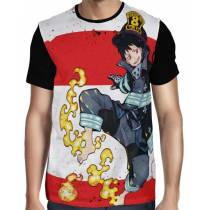 Camisa FULL Shinra Kusakabe - Fire Force - Enen No Shouboutai