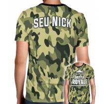 Camisa Full PRINT Camuflada Battle Royale - Fortnite - Personalizada Modelo Apenas Nick Name