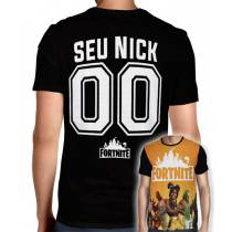Camisa Full PRINT Season 8 Mod.02 - Fortnite - Personalizada Modelo Nick Name e Número