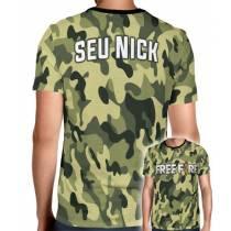 Camisa Full PRINT Camuflada Normal Free Fire - Personalizada Modelo Apenas Nick Name