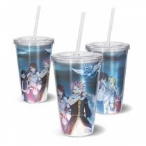 Copo Acrilico Fairy Tail - Natsu Erza Gray Happy