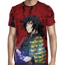 Camisa Full PRINT Red Mangá Kimetsu no Yaiba - Giyuu Tomioka