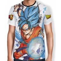 Camisa Full Art Brusher Super Saiyan Blue Goku - Dragon Ball Super