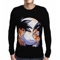 Camisa Manga Longa Goku vs Principe Vegeta - Dragon Ball