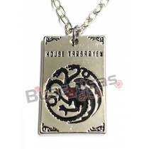 GOT-09 - Colar Placa Targaryen