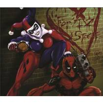 Mouse Pad - Arlequina e DeadPool