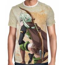 Camisa Full Print High Elf Archer Stat Card - Goblin Slayer