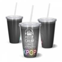 Copo Acrilico KEEP CALM K-POP