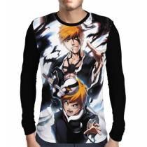 Camisa Manga Longa Ichigo Sides - Bleach