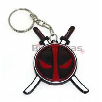 DPL-02(CH) - Chaveiro Deadpool com Espadas