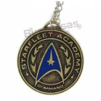 STR-03 - Colar Nave Medalha Starfleet Academy - Star Trek