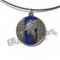 BL-58 - Colar Borboleta Infernal Azul