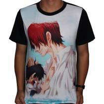 Camisa FULL Shanks e Luffy - One Piece