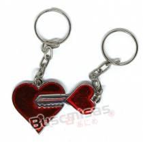 NRD-15(CH) - Chaveiro Duplo Coração e Chave