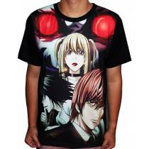 Camisa Full Death Note - L - Kira - Misa - Ryuk