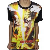 Camisa FULL Genos e Saitama - One Punch Man