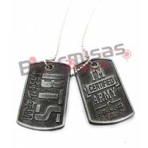 KPOP-17 - Colar Dog Tag Dupla Certified BTS (BangTan Boys) - K-Pop