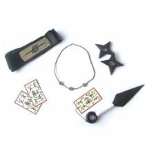 Kit Itachi Luxo - Kunai + Duas Shurikens + Colar itachi + Bandana + Tags