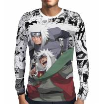 Camisa Manga Longa Print Manga Jiraiya - Naruto
