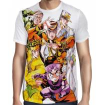 Camisa FULL Branca JoJo's Bizarre Adventure Part 4: Diamond is Unbreakable