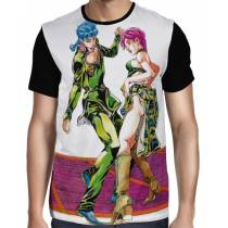 Camisa FULL Preta Trish Una e Giorno Giovanna - Jojo's Bizarre Adventure: Golden Wing