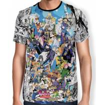 Camisa Full Print - Mangá Jojo's Bizarre Adventure