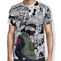 Camisa FULL Print Manga Kakashi V2 - Naruto