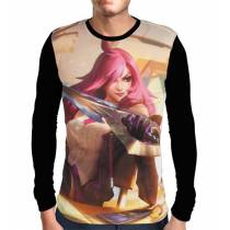 Camisa Manga Longa Katarina Academia de Batalha - League of Legends